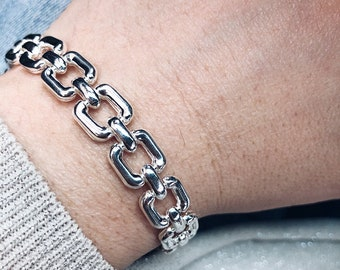 Chain bracelets entirely in 925 silver