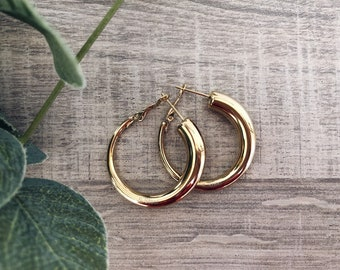 Earrings in gold-plated steel