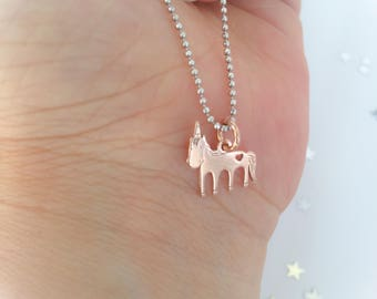 Unicorn Necklace with 925 Silver Chain