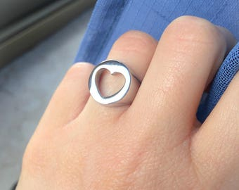 Heart or star seal ring in stainless steel