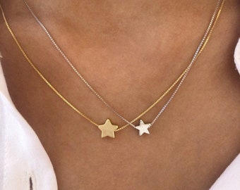 925 silver necklace with mini star in three colors