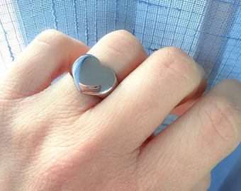 Heart seal ring in stainless steel