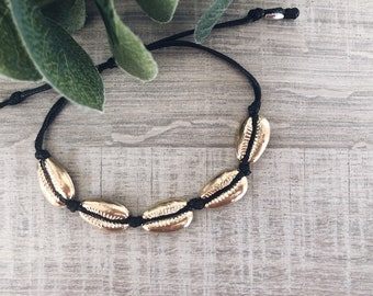 Rope bracelets with silver-plated and gold-plated brass shells