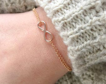 Bracelet entirely in 925 silver with infinite pendant