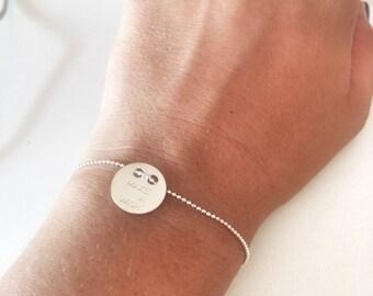 Make a wish bracelet in sterling silver 925