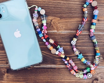 Personalized phone cord with beads