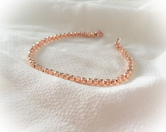 Bracelet with ematite rose gold