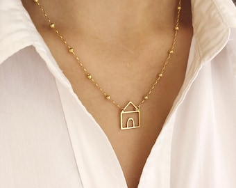 Necklace in sterling silver 925 with cottage charm