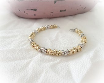 Bracelet with knots and aluminum