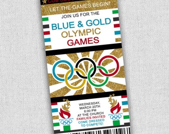 Olympics tickets etsy cubscout olympic invitation olympics party invitation blue and gold olympics invitation free custom wording cub scout invitations stopboris Choice Image