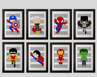 Ordinaire Superhero Wall Art Prints, Super Hero Wall Prints, PICK 4, PRINTS, Super  Hero Wall Art, Boys Room, Art Or Playroom Art (4) 8x10 Printed