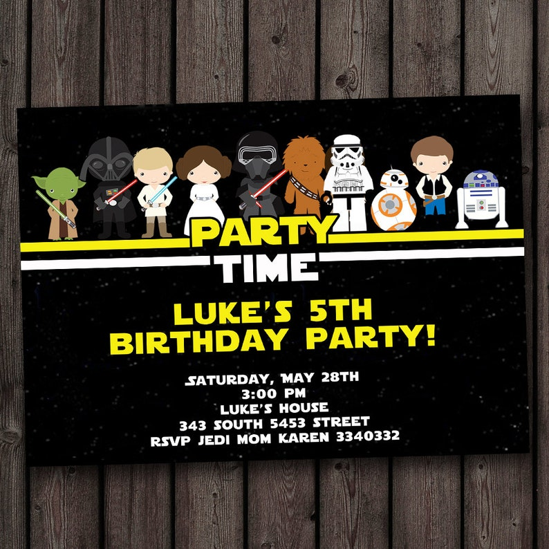 FAST Customized Star Wars Invitation The Force Awakens
