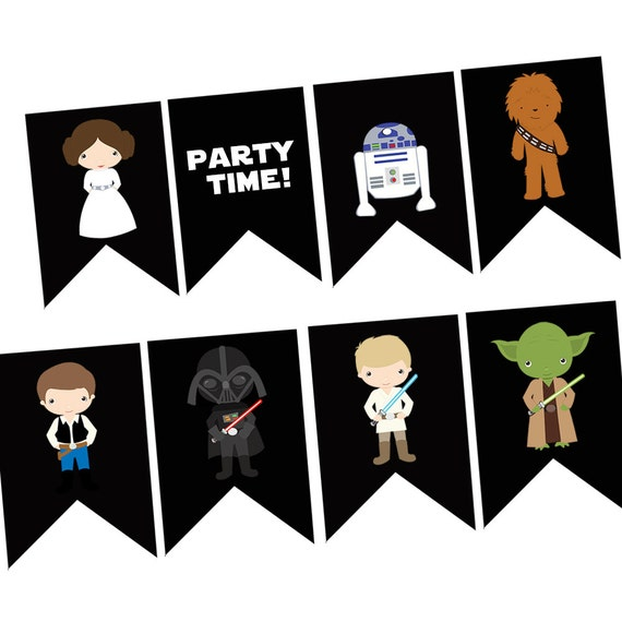 Instant Download Star Wars Happy Birthday Banner Digital
