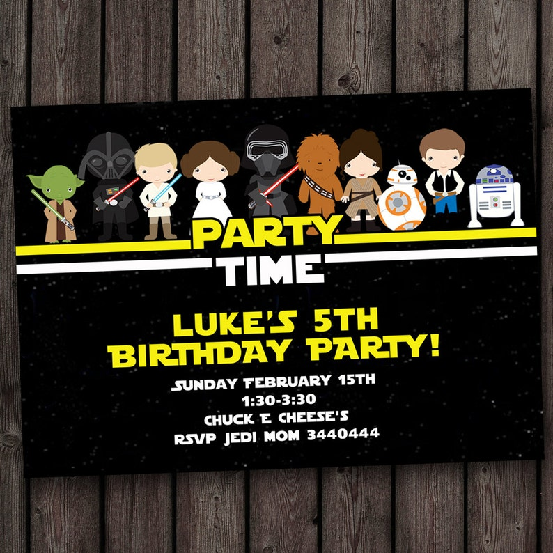 Star Wars Invitation Birthday Invitations Fast