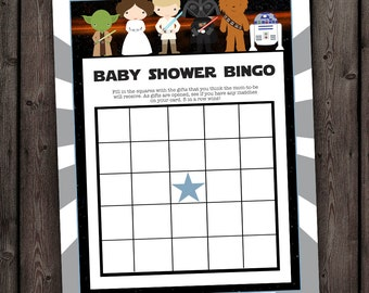 Star Wars Baby Shower Games, Bingo, Star Wars Bingo Shower Game, Star Wars  Theme Baby Shower Games, Bingo, Digital, Instant, Digital