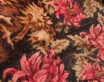 Stroock carriage buggy blanket lap robe floral horsehair antique Victorian