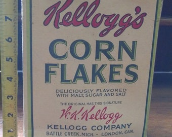 Antique Kellogg's Corn Flakes Cereal Box
