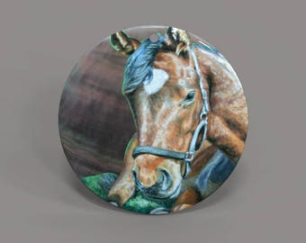 Hand painted  horse, painted pendant, Hand painted necklace, Hand painted Making gifts, Painting horse, Shell painting horse.