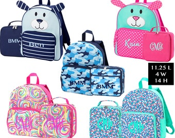 f3391934a3b6 Monogrammed Preschool Backpack and Lunchbox Set   Puppy Backpack   Pre-K  Backpack   Lunchbox Set