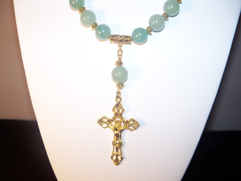 Aventurine Necklace With Cross A Beautiful wearable 201416
