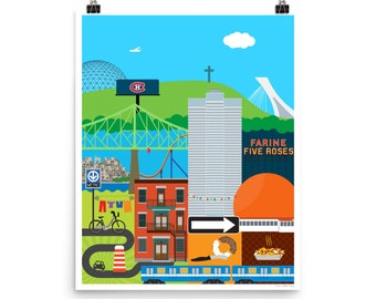 """Montreal Patchwork Poster 16"""" x 20"""""""