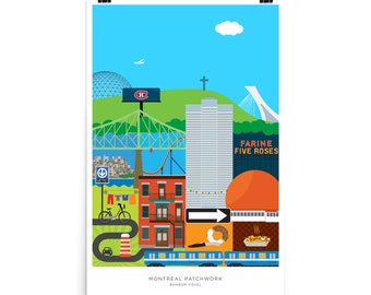 """Montreal Patchwork Poster 24"""" x 36"""""""