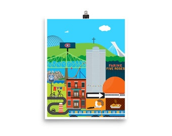 """Montreal Patchwork Poster 8"""" x 10"""""""