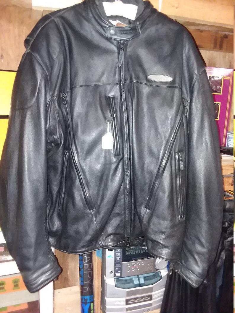 752e7c444d Veste en cuir Harley Davidson An American Legend FXRG Vintage | Etsy
