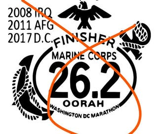 Marine Corps Decal, Marathon custom deca,  Marine decal, EGA Decal, USMC Decal, USMC Decals, Marine Decals, Personalized Marathon decal