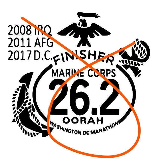 Marine corps decal marathon custom deca marine decal ega decal usmc decal usmc decals marine decals personalized marathon decal