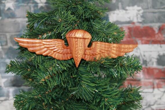 Parachute Rigger wings, Marine Corps, Marine Ornament, Navy, EGA, Ornaments, Veteran gift, USMC Ornaments, Wood, Air Crew, Combat,
