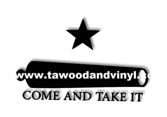 Yeti Come and Take it Auto Decal, vinyl decal for tumbler cup, decals for women men, vinyl stickers, Military, car stickers, truck, auto