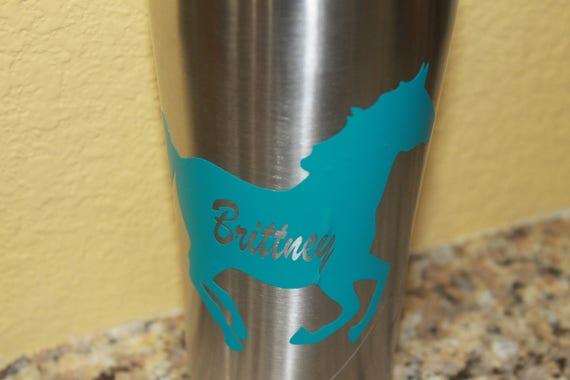 Horse decals, horses vinyl sticker, yeti, personalized decals, ozark, tumbler cup, decals for women men, vinyl stickers, truck decals,