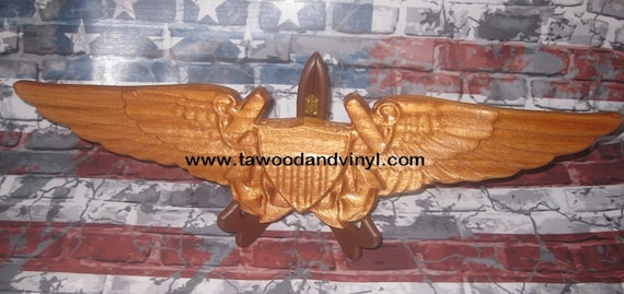Aviation gifts,  NFO wings, Navy gift, Retirement wings, Wood wings, Aviation Art, Navy Decor,  Military gifts Marine, coast guard gifts