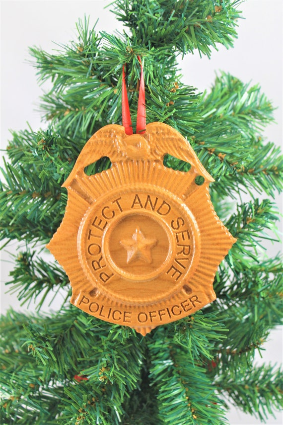 Police Ornament, Police ornaments, Police officer gifts, police carved wood, housewarming gifts, Ornament gift, Law Enforcement Ornament