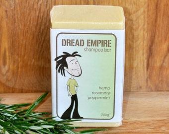 Dreadlock Shampoo Bar ~ residue free organic shampoo for dreadlocks with hemp seed, rosemary & peppermint