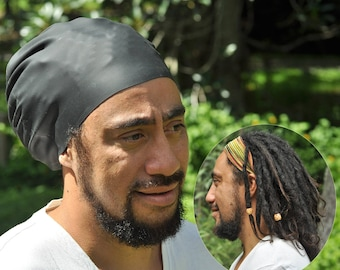 NEW & IMPROVED Large Swim Cap for dreadlocks and braids PLUS free dread band
