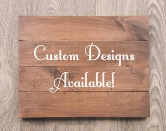 Custom Wood Signs Etsy