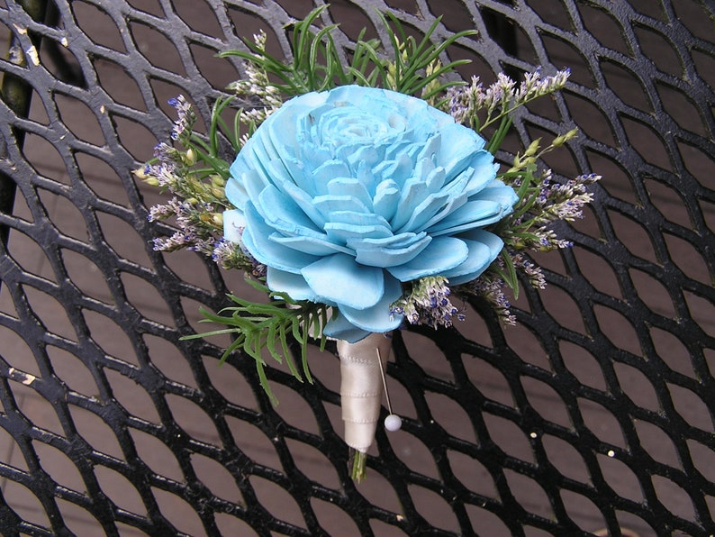 Boutonniere for a man Rustic Buttonhole Groom Boutonniere Turquoise Wedding Boutonniere Man/'s Boutonniere Groomsman Boutonniere
