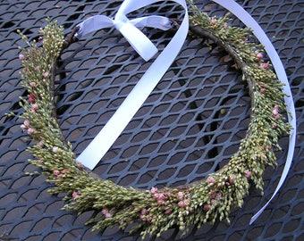 Bridal Hair Halo, Bridal Hair Crown, Hair Wreath, Wedding Hair Flowers, Preserved Flower Crown, Bridal Hair Crown, FREE SHIPPING, Hair Halo