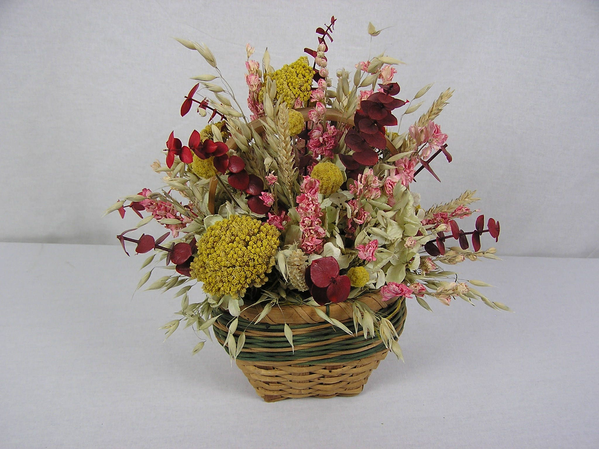 Dried Flower Arrangement Dried Flowers Table Centerpiece Rustic
