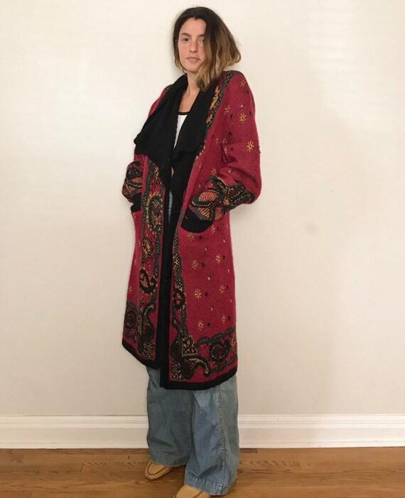 Vintage Long Oversized Cardigan