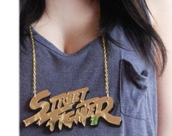 Street Fighter Acrylic Chain