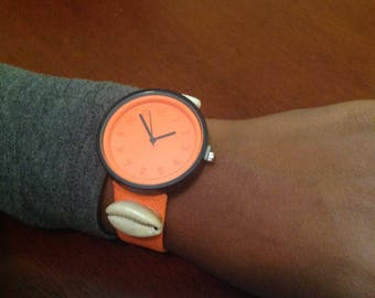 Cowrie Shell Tangerine Watch