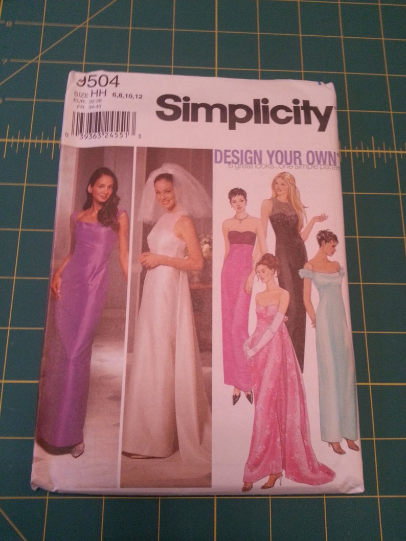 Unused Simplicity Formal Prom/Bridesmaid/Wedding Dress Pattern image 0