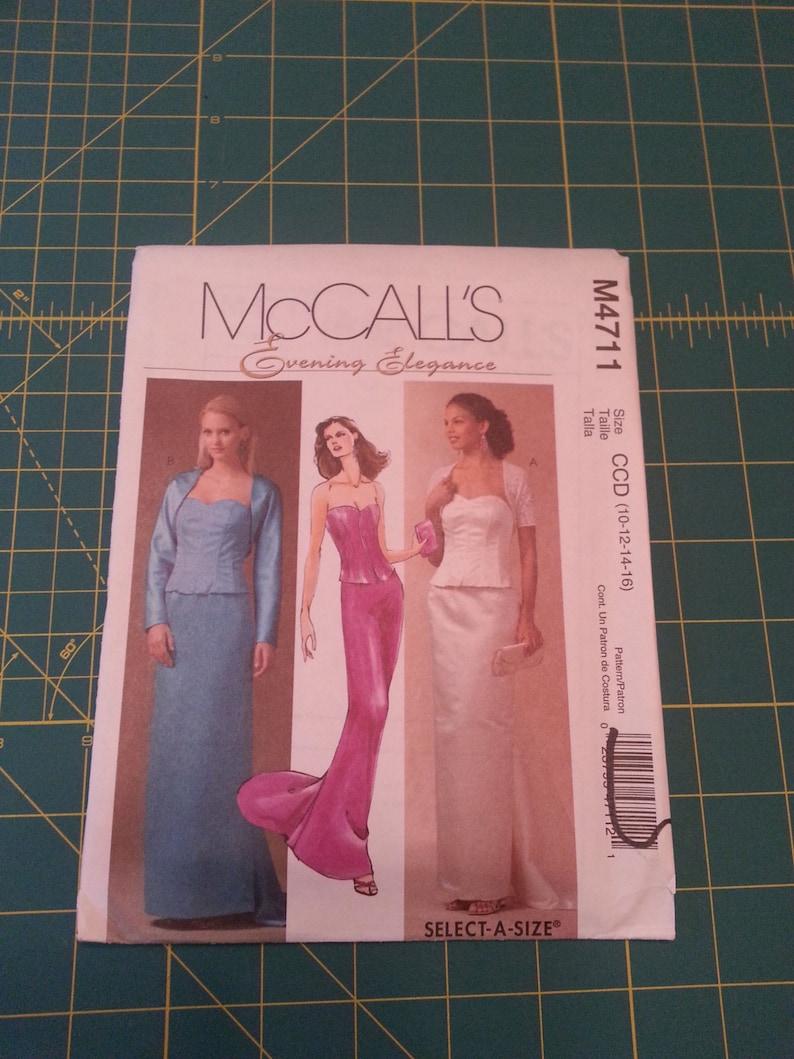 Unused McCall's Evening Elegance Formal/Wedding/Bridesmaid image 0