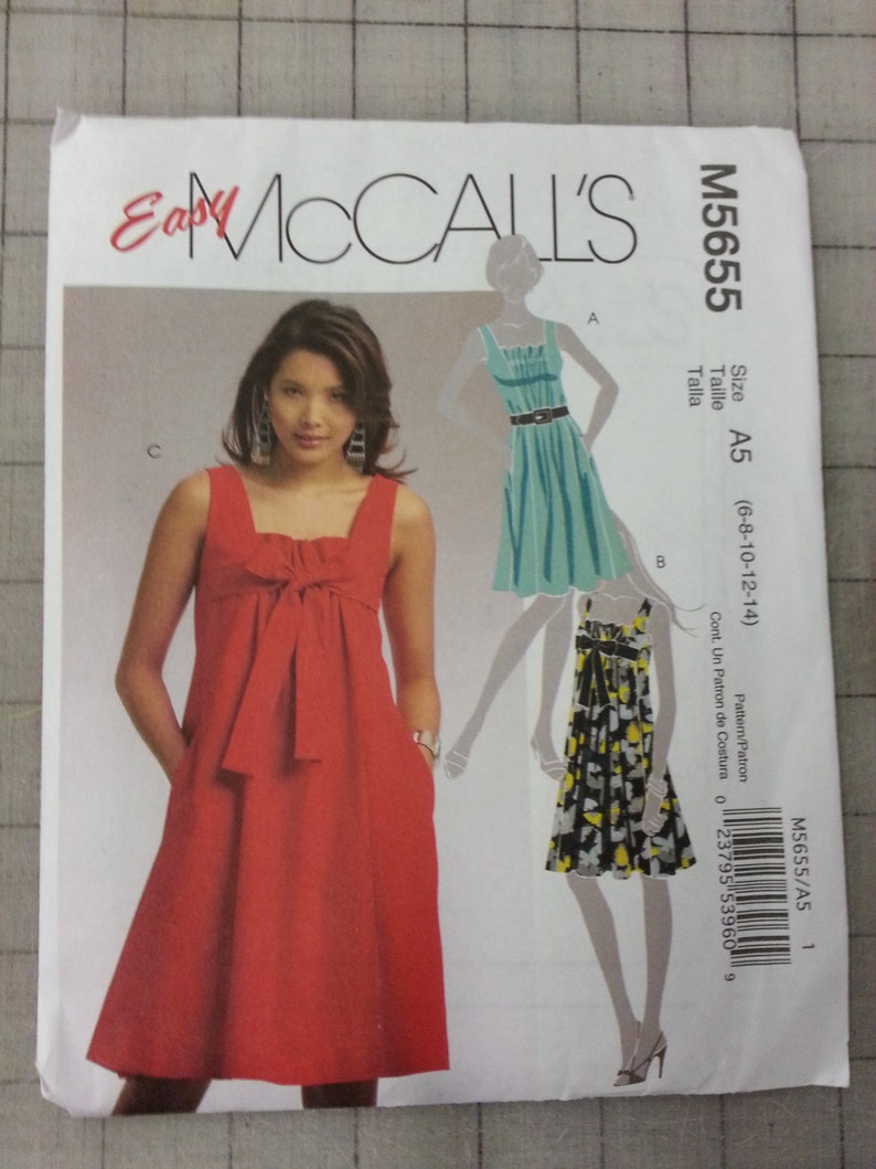 Unused McCall's Dress Pattern M5655  Size 6-14 image 0