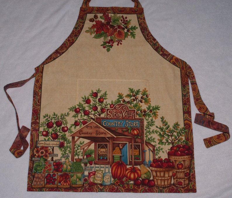 Apron  Homestyle Country Store with Front Pocket  One Size image 0