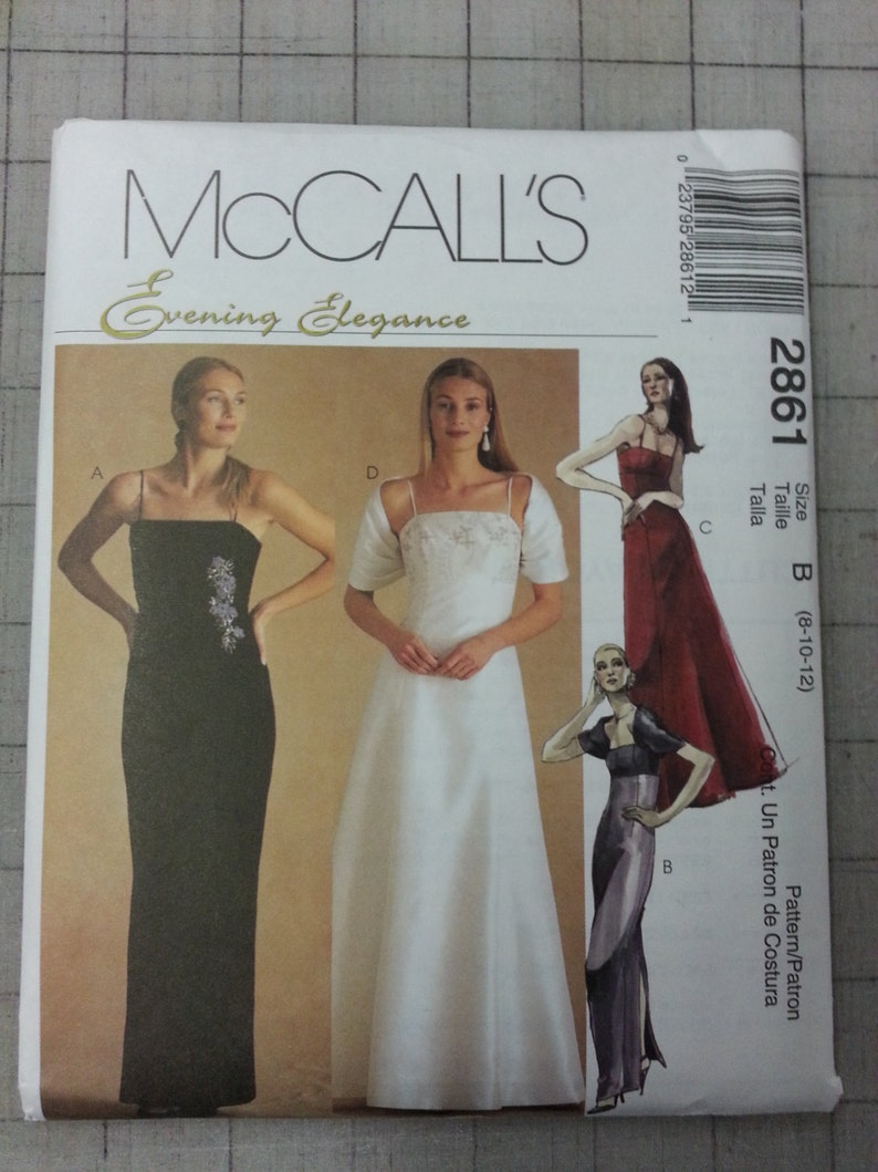 Unused McCall's Evening Elegance Formal/Wedding/Bridesmaid image 0