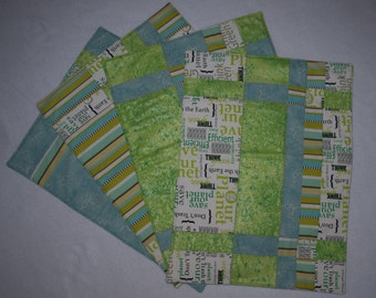 Green Eco Place Mats - Set of 4